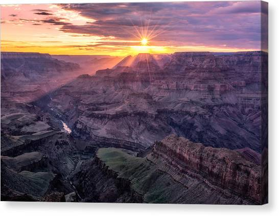 Sunset From Lipan Point Canvas Print