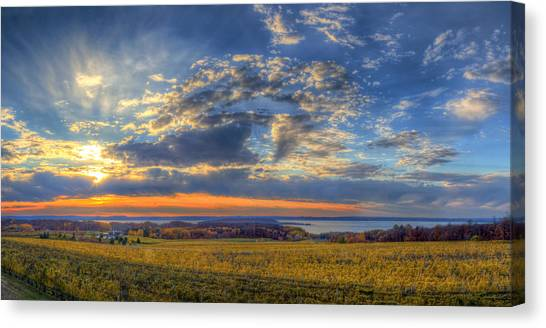Mission Canvas Print - Sunset From Old Mission by Twenty Two North Photography