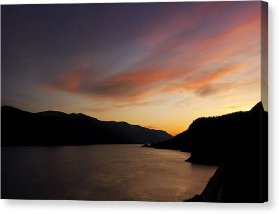 Sunset From Tunnel 6 Canvas Print