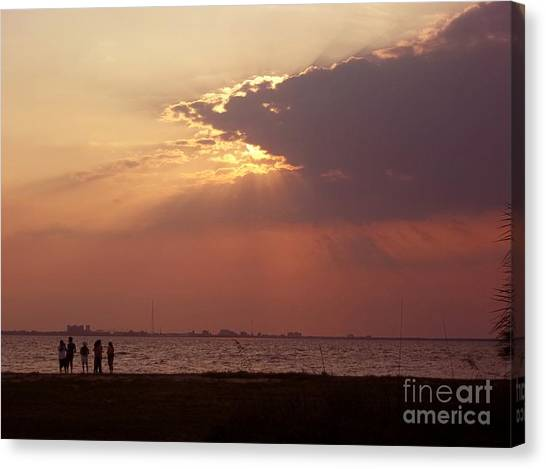 Sunset Gathering Canvas Print