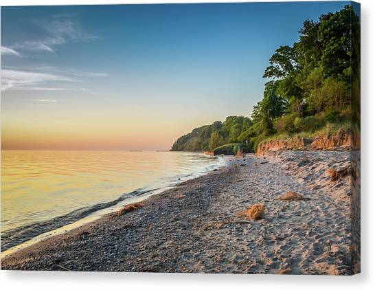 Sunset Glow Over Lake Canvas Print