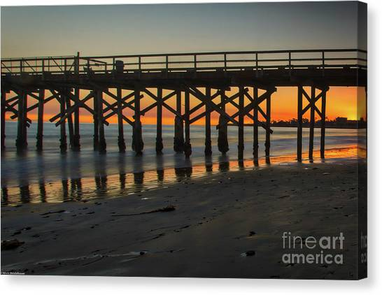Ucsb Canvas Print - Sunset Goleta  by Mitch Shindelbower