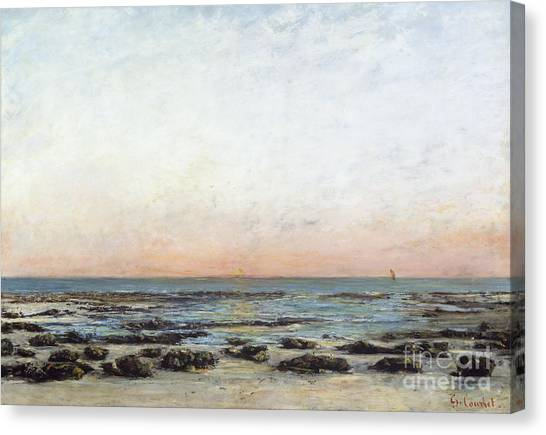 1870 Canvas Print - Sunset by Gustave Courbet