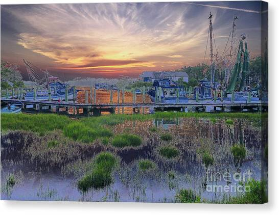 Sunset Harbor Dream Canvas Print