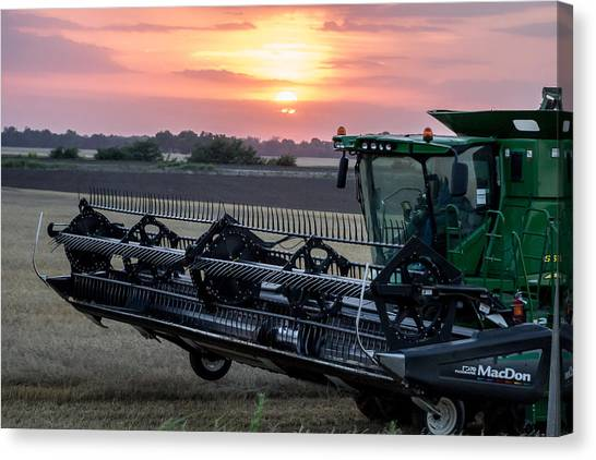 Sunset Harvest Canvas Print by Lori Root