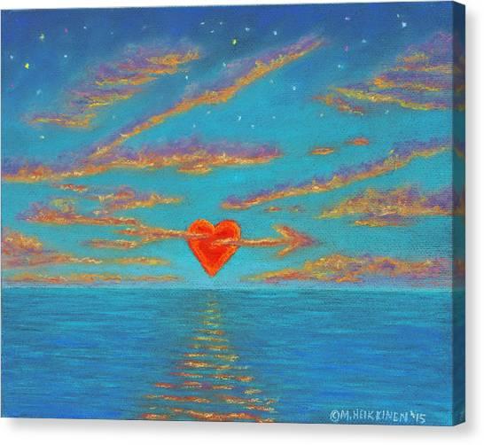 Sunset Heart 01 Canvas Print