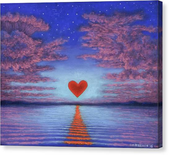 Sunset Heart 02 Canvas Print