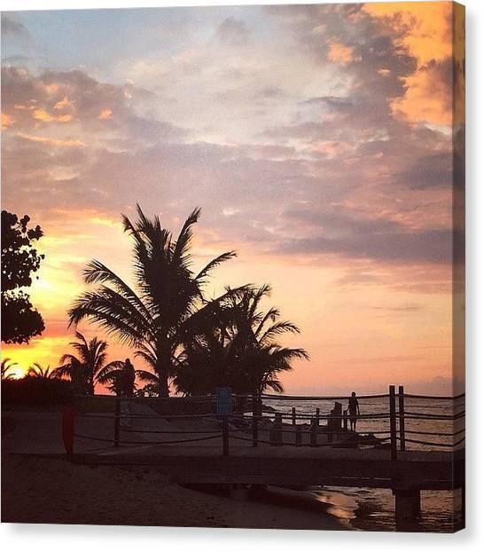 Jamaican Canvas Print - Sunset #holidayinresortjamaica #jamaica by Tammy Wetzel