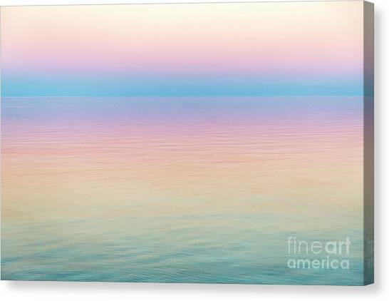 Sunset Hues In Rangiroa, French Polynesia Canvas Print by Julia Hiebaum