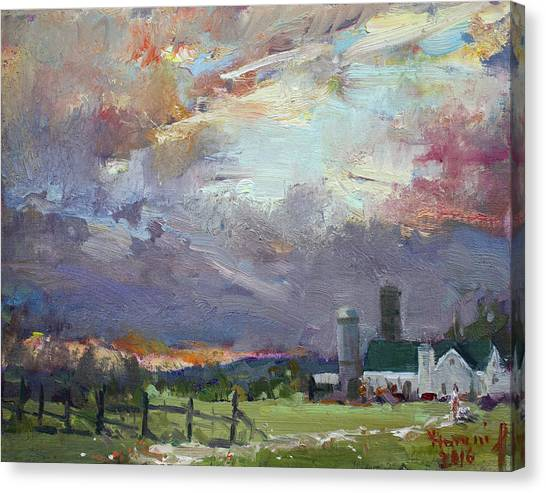 Ontario Canvas Print - Sunset In A Troubled Weather by Ylli Haruni