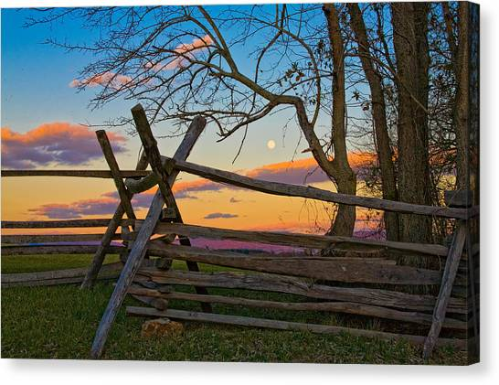 Sunset In Antietam Canvas Print