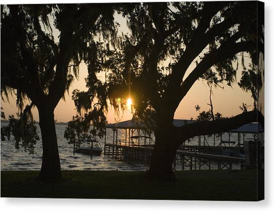 Sunset In Central Florida Canvas Print by Christopher Purcell
