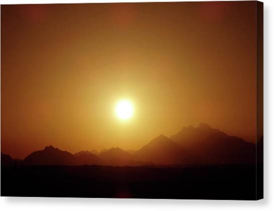 Sunset In Egypt 7 Canvas Print