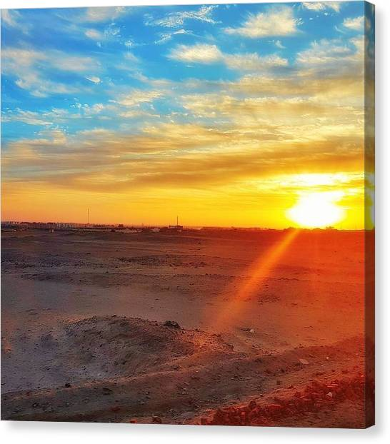 Canvas Print - Sunset In Egypt by Usman Idrees