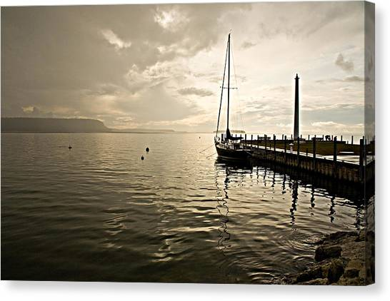 Sunset In Ephriam Canvas Print by Carl Jackson