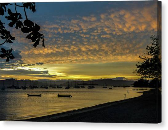 Sunset In Florianopolis Canvas Print