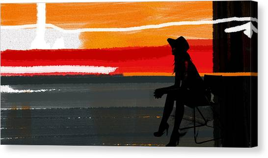 Emotional Canvas Print - Sunset In Hamptons by Naxart Studio