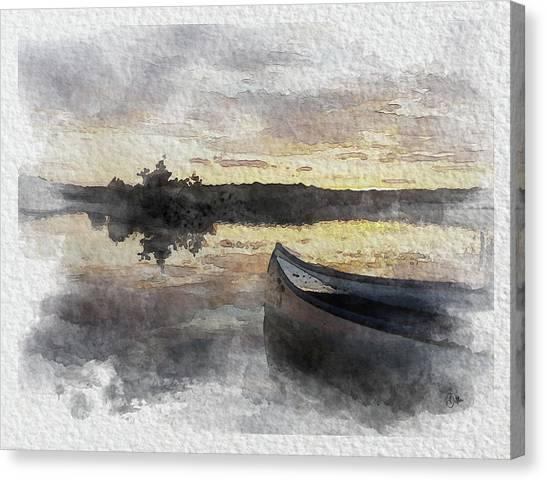 Canvas Print - Sunset In Immeln, Sweden by Bitten Kari