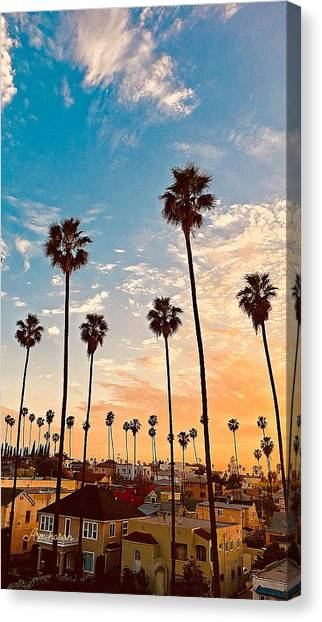 Grand Theft Auto Canvas Print - Sunset In Los Angeles by ASM Hasan