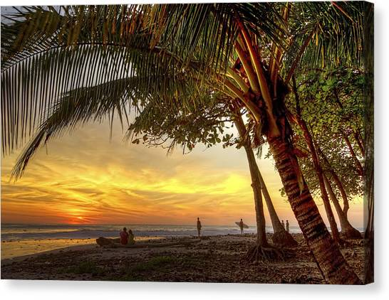Sunset In Mal Pais Canvas Print
