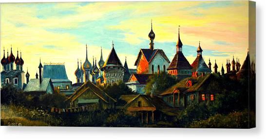 Sunset In Rostov Canvas Print