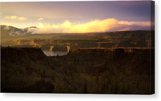Sunset In Rowena Canvas Print