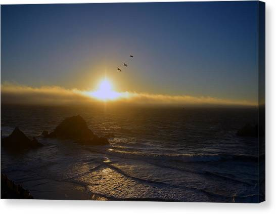 Sunset In San Francisco Canvas Print