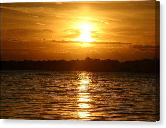 Sunset In Shelter Island  Canvas Print by Matthew Kennedy