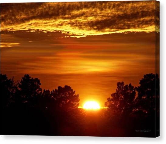 Sunset In Sonoma County Canvas Print