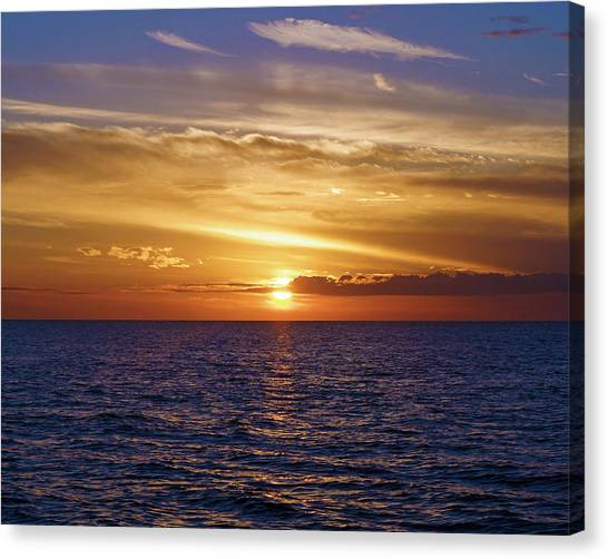Sunset In Sw Florida Canvas Print