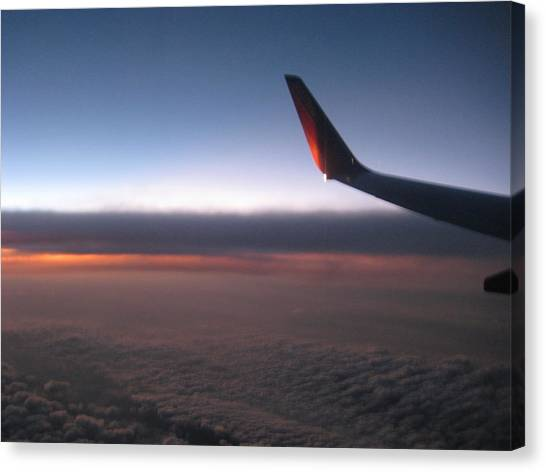 Sunset In The Air Canvas Print by Renee Antos