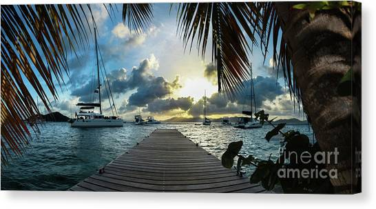 Catamarans Canvas Print - Sunset In The Bvi by Jon Neidert