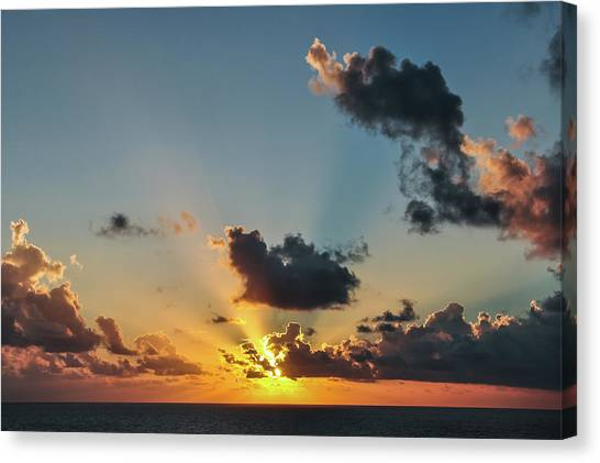 Sunset In The Caribbean Sea Canvas Print