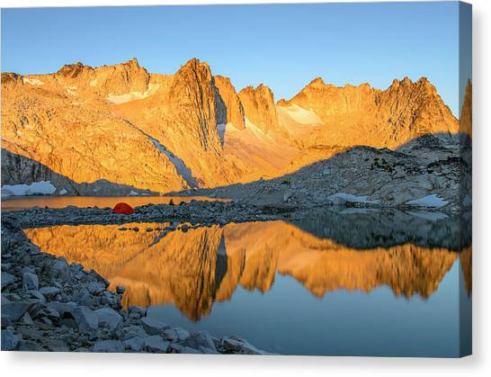 Sunset In The Enchantments Canvas Print
