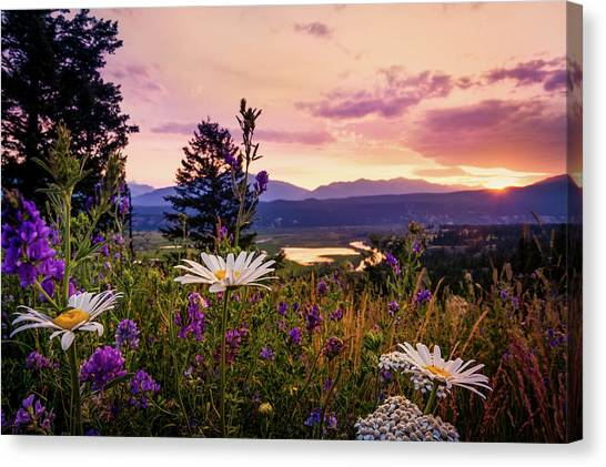 Sunset In The Kootenays Canvas Print