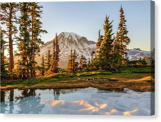 Sunset In The Pinnacle Saddle Canvas Print
