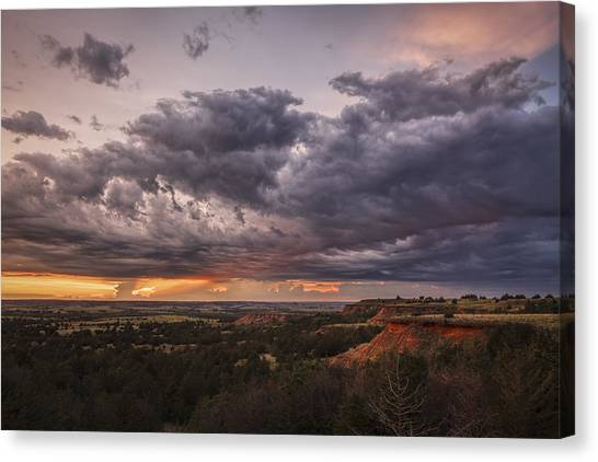 Sunset In The Red Hills Canvas Print