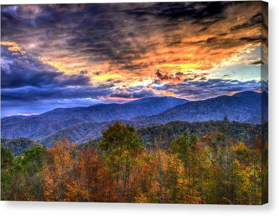 Sunset In The Smokies Canvas Print