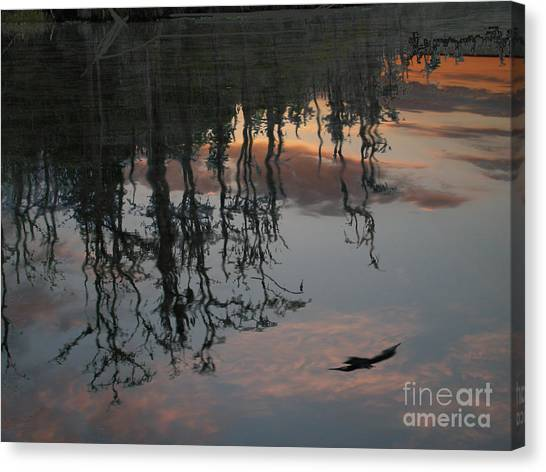 Okefenokee Canvas Print - Sunset In The Swamp by Jim Wright