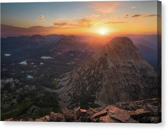 Uinta Canvas Print - Sunset In The Uinta Mountains by James Udall