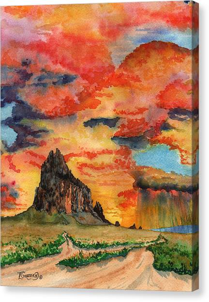 Sunset In The West Canvas Print