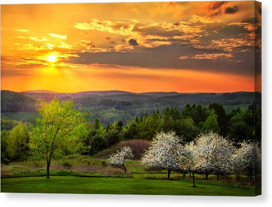 Sunset In Tioga County Pa Canvas Print