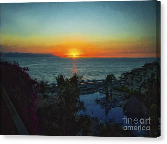 Sunset In Vallarta  ... Canvas Print