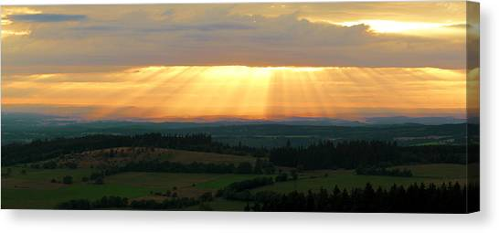 Sunset In Vogelsberg Canvas Print