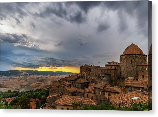 Sunset In Volterra Canvas Print
