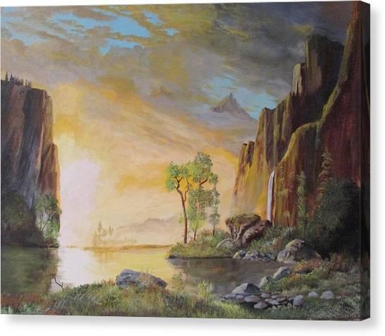 Sunset In Yosemite Canvas Print
