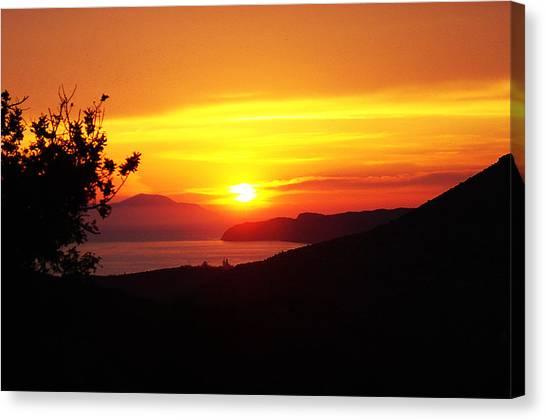 Sunset Canvas Print by Jacqueline Doulis