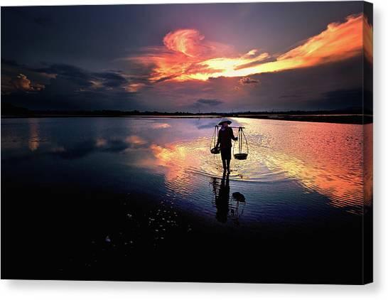 Sunset Canvas Print by Julayne Luu