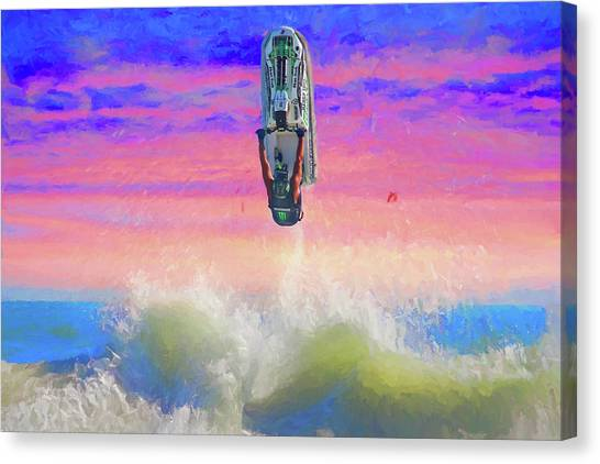 Sunset Jumper Canvas Print