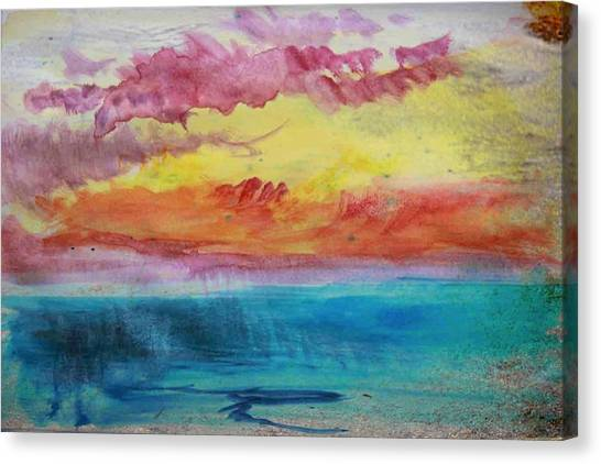 Sunset Lagoon Canvas Print